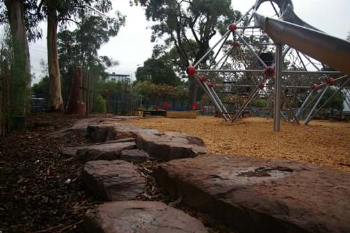 Playground and Rock placement